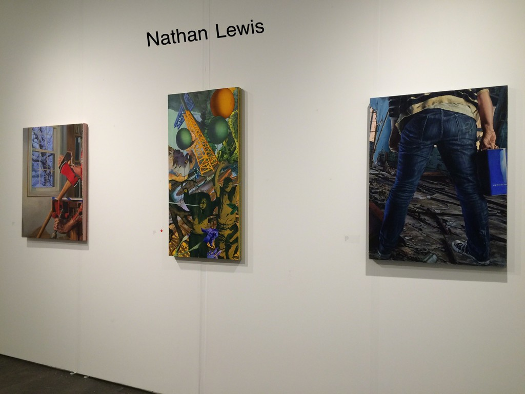 Nathan Lewis's one day solo show at Houston Art Fair on October 1st