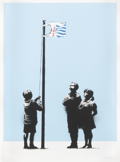 Banksy, 'Very Little Helps', 2008, Print, Screen print in colours on 270 gsm paper, Tate Ward Auctions