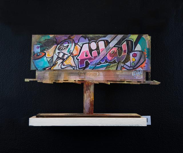 Aila, 'Billboard H', 2018, Painting, Acrylic and Aerosol on Wood Cutout, EWKUKS
