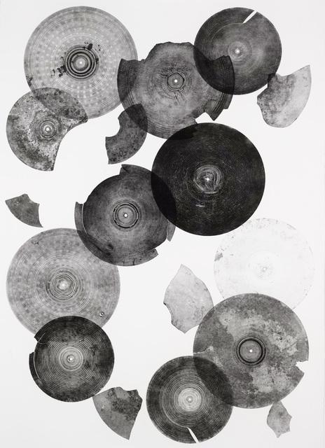 Carlos Amorales, 'Partituras abiertas para címbalos, 03', 2016, Print, Monotypes. Engraving on metal plate on paper, kurimanzutto