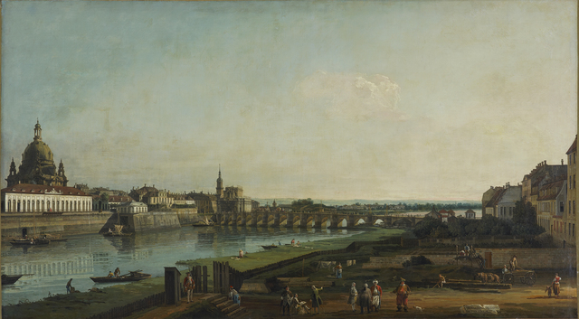 , 'Dresden from the Right Bank of the Elbe above the Augustus Bridge,' 1747, Belvedere Museum