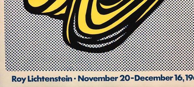 Roy Lichtenstein, 'Vintage Offset Lithograph 'Brushstroke' Roy Lichtenstein Pop Art Castelli Poster', 20th Century, Ephemera or Merchandise, Offset Lithograph Poster, Lions Gallery