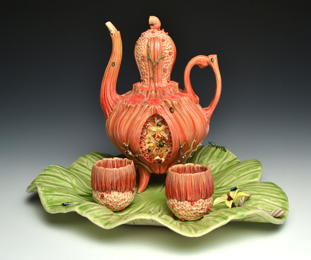 , 'Large Red Teapot with 2 Cups,' 2013, Duane Reed Gallery