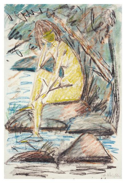, 'Sitzendes Mädchen am Wasser,' ca. 1920, Ludorff