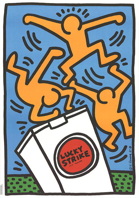 Keith Haring, 'Keith Haring Lucky Strike (Blue) ', 1987, Lot 180