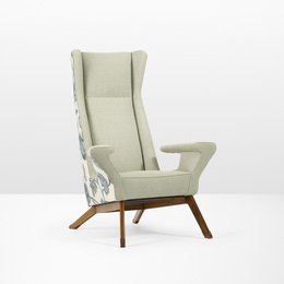 Rare Lounge Chair from Villa Levi-Montalcini, Asti