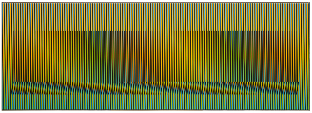 , 'Induction Chromatique à Double Fréquence Madrid A, Ed. 6/8,' 2008, Galerie Pascal Janssens