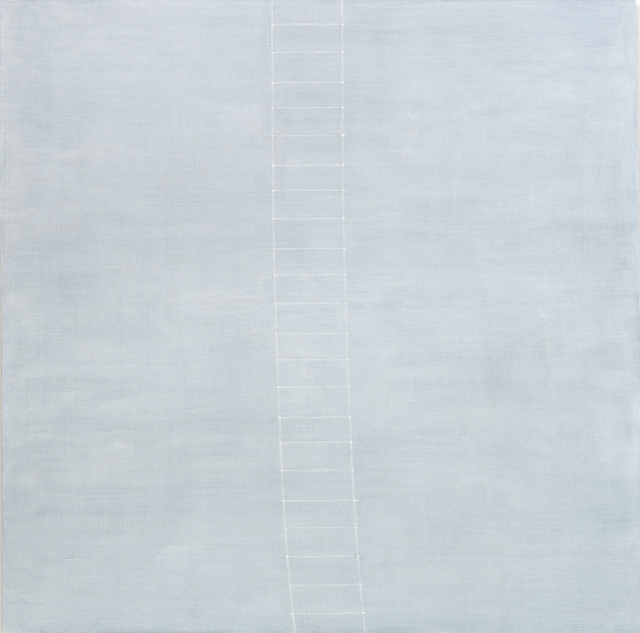 Edda Renouf, 'Thames-III, Noon Passage', 2012, Painting, Acrylic on linen, removed threads, Annely Juda Fine Art