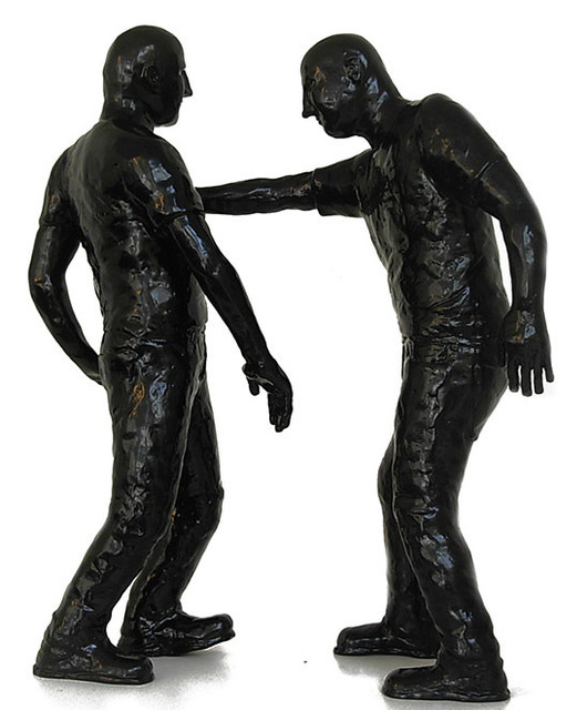 , 'Dois homens em pé,' 2014, Fernando Pradilla/El Museo