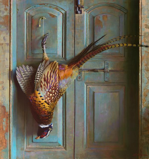 ", '""Pheasant on Blue Door"",' 2018, Maxwell Alexander Gallery"