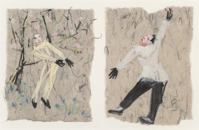 Nicolas Africano, 'Untitled Diptych (Studies for Petrouchka)', 1984, Heritage Auctions