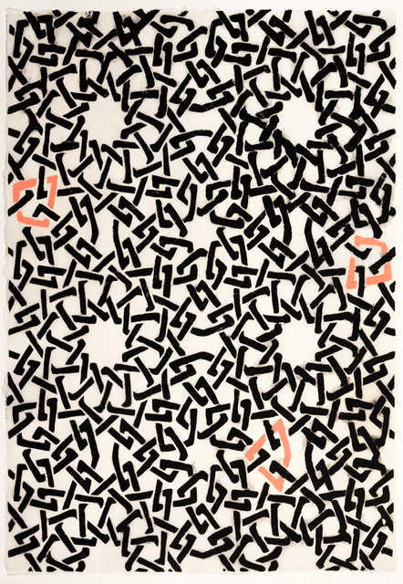 , 'Black and Pink Web Pattern,' 2015, Callan Contemporary