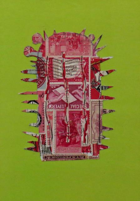, 'Stamp Cactus Red,' 2017, Joshua Tree Art Gallery