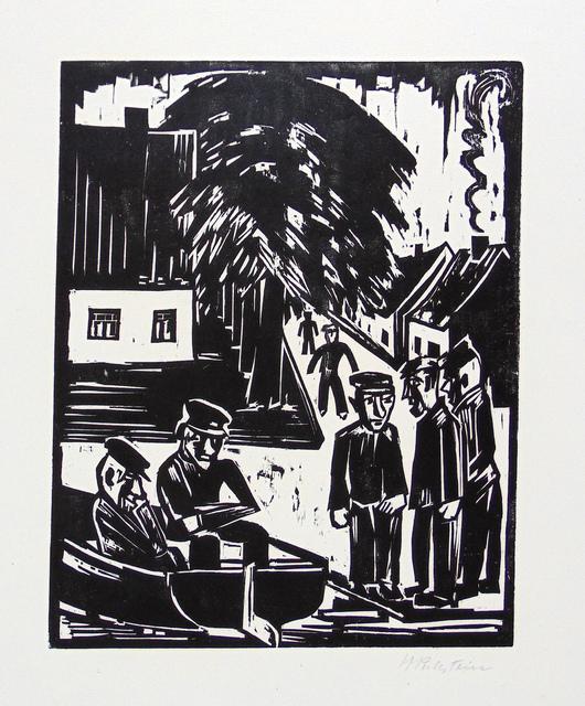 , 'Fisherman on the Shore (Sunday Fishermen)   Fischer am Ufer (Sonntag Der Fischer),' 1923, Gilden's Art Gallery