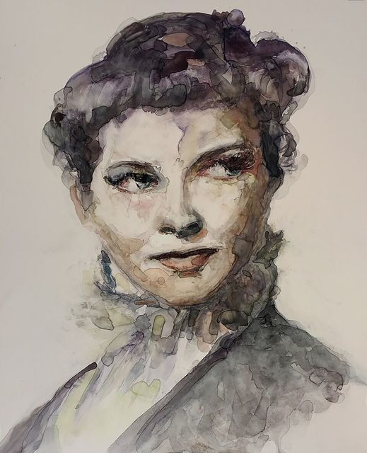", '""I think most people involved in any art always secretly wonder whether they are really there because they're good, or there because they're lucky."" -- Katherine Hepburn,' 2017, Ro2 Art"