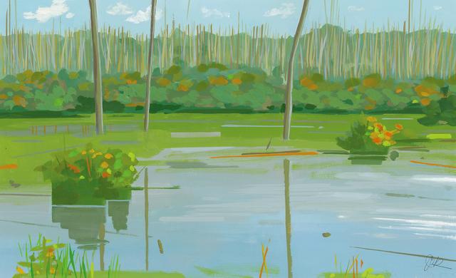 , 'Marsh Trees,' , Water Street Gallery