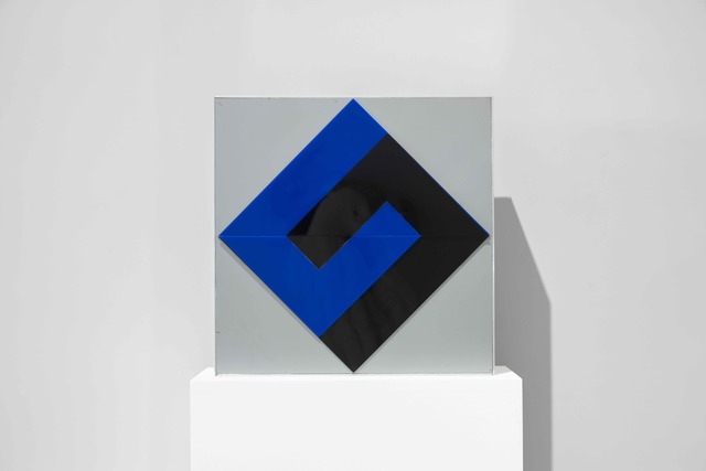 "Fletcher Benton, 'Interlocking ""L"", Black and Blue', 1970, Sculpture, Aluminum and Plexiglas, Yares Art"