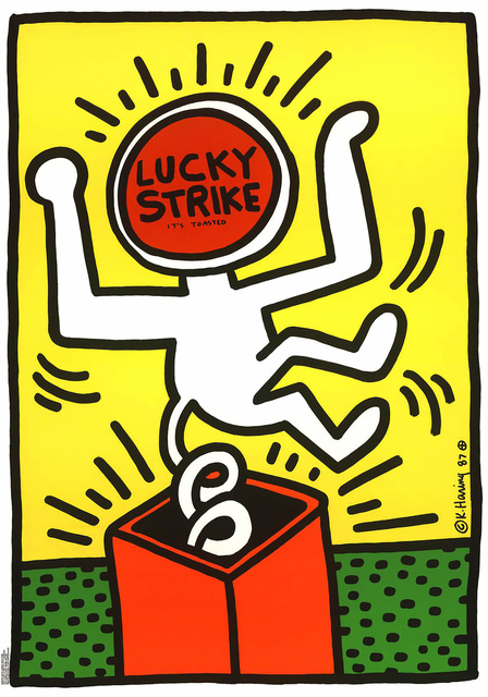 Keith Haring, 'Keith Haring Lucky Strike ', 1987, Lot 180