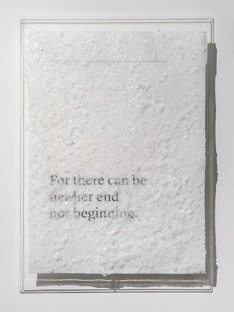 , 'For there can be neither end nor beginning.,' 2016, Blindspot Gallery