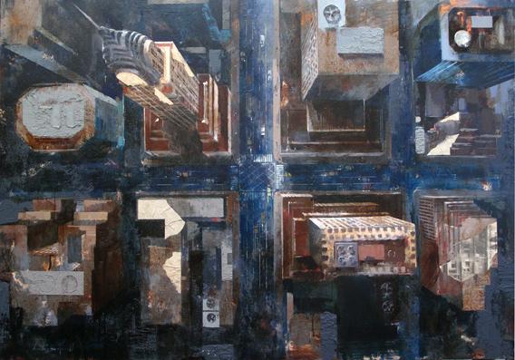 , 'Flying over Chrysler Building,' , Villa del Arte Galleries