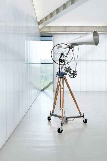 , 'Kinetic Sculpture Bicycle Wheel with Two Megaphones,' , Sifang Art Museum