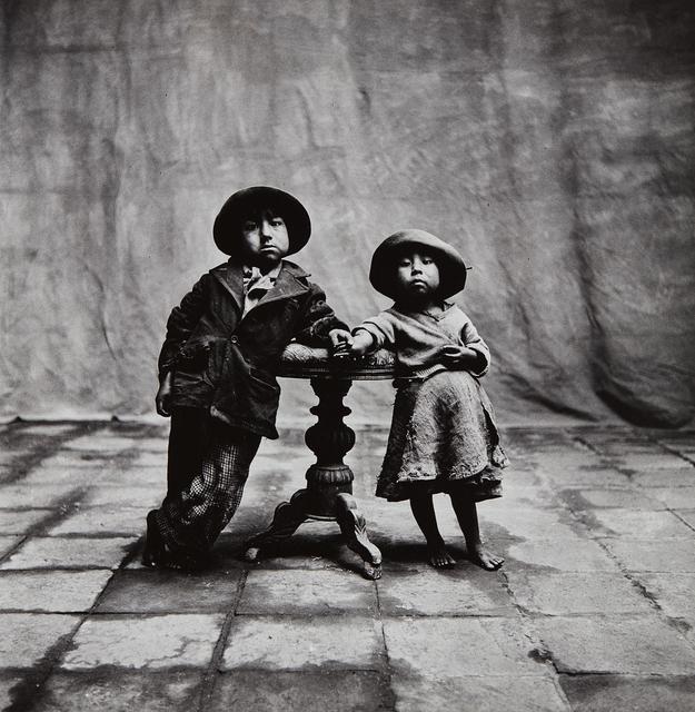 Irving Penn, 'Cuzco Children, Peru', 1948-printed 1975, Photography, Gelatin silver print, Phillips