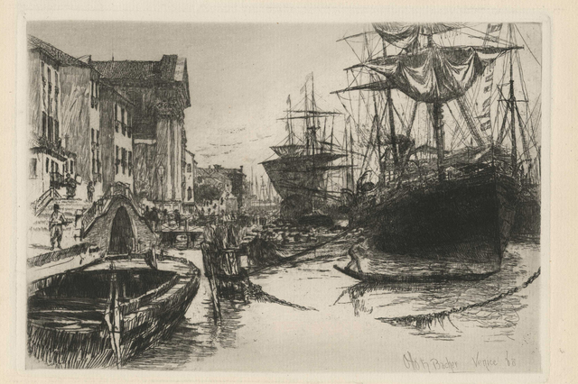 , 'Fondamenta Delle Zattere or View in Venice,' 1880, Childs Gallery