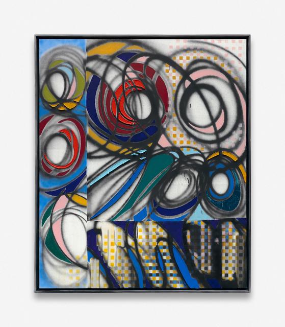 Keltie Ferris, 'Dandelions', 2019, Painting, Oil and acrylic on canvas, in the artist's frame, Kadel Willborn