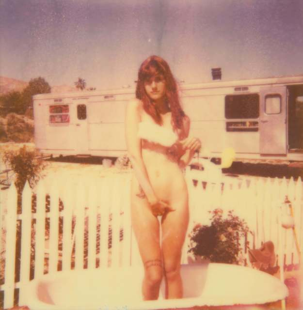 Stefanie Schneider, 'The Girl II (Behind the White Picket Fence)', 2011, Photography, Analog C-Print, hand-printed by the artist on Fuji Crystal Archive Paper, based on a Polaroid, not mounted, Instantdreams
