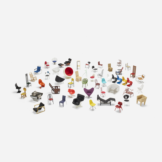 Vitra, 'collection of forty-nine miniatures', Wright