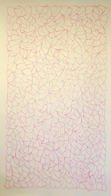 , 'Line Drawing 5 (Pink),' 2018, Oliver Sears Gallery