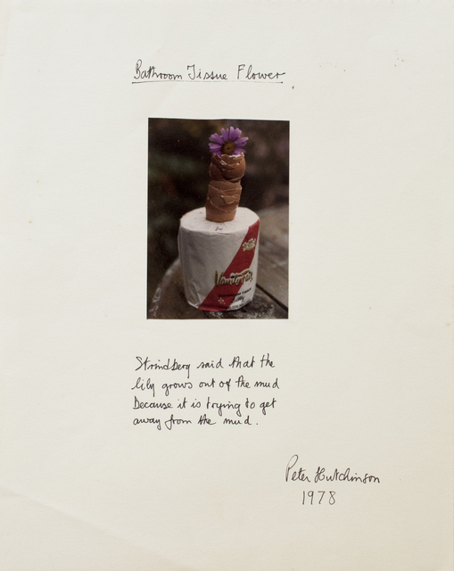 , 'Bathroom Tissue Flower,' 1978, Gaa Gallery