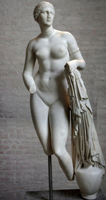 Praxiteles, 'Aphrodite of Knidos, Greco-Roman variant on the original marble of ca. 350 B.C.', Art History 101