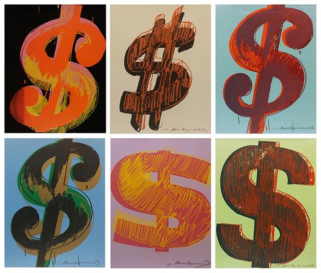 Andy Warhol, '$ (1) FS II.274-279', 1982, Marcel Katz Art