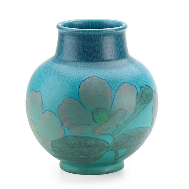 Kataro Shirayamadani, 'Double Vellum Vase With Stylized Roses (Uncrazed), Cincinnati, OH', 1933, Rago/Wright