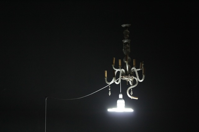 , 'Re-Enactment LB_Chandelier,' 2012, Akinci