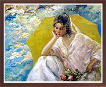 , 'La Sombrilla Amarilla,' , Robin Rile Fine Art