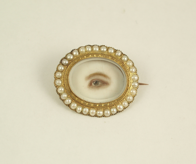 , 'Brooch with Eye Miniature,' ca. 1845, Museum of Arts and Design