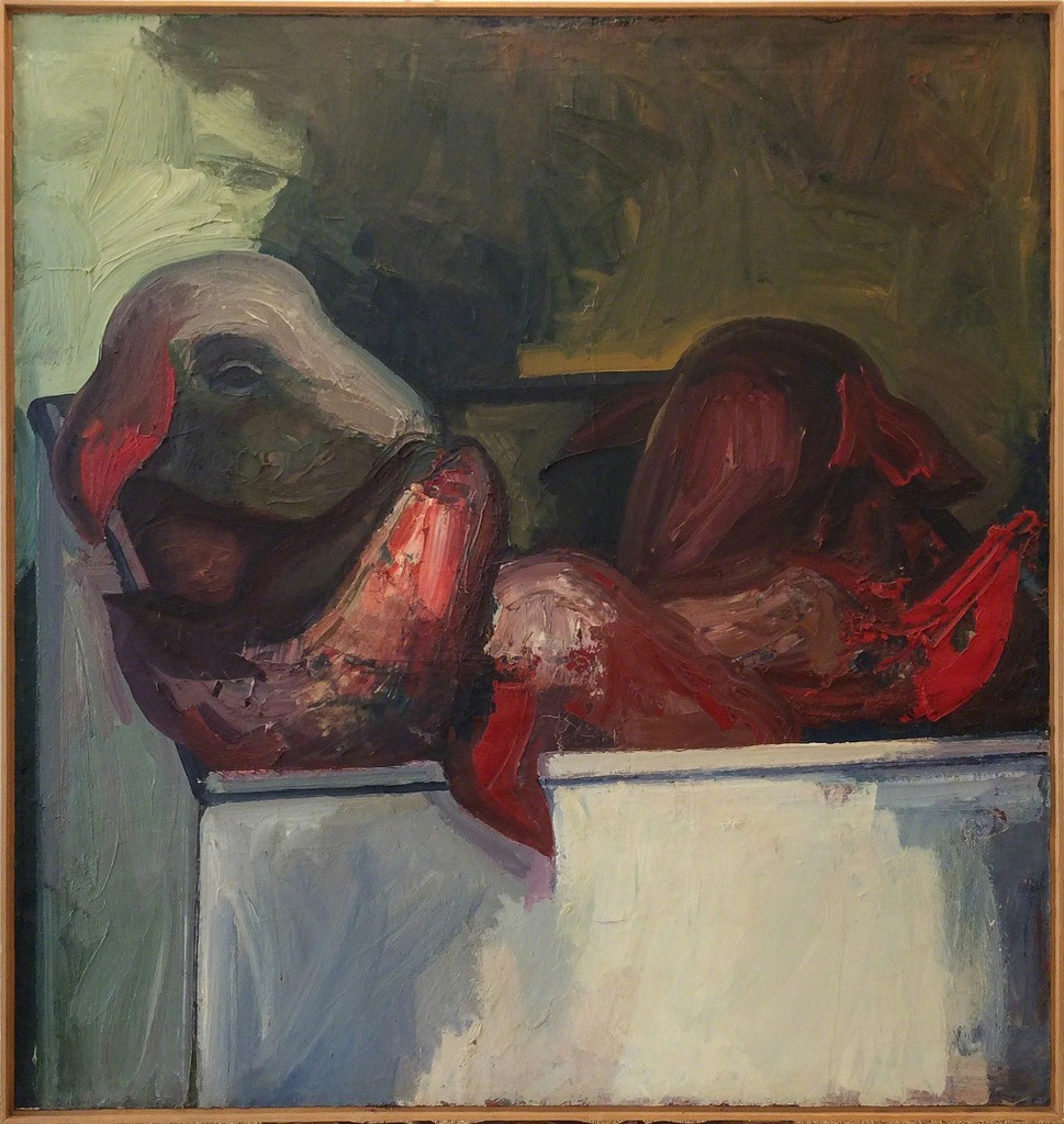 "James Weeks / ""Sheep Heads #2"" / 1959 / Oil on Canvas"