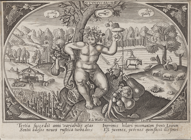 Continental School, '[Autumnus Baccho] (possibly from Johann Wilhelm Stucki's Antiquatatum convivialium libri)', Late 16th or Early 17th Century, Childs Gallery