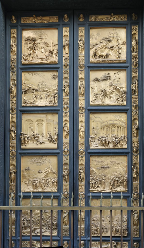 a research on the third set of baptistery doors of lorenzo ghiberti Hide caption lorenzo ghiberti (italian, 1378-1380–1455) adam and eve relief,  gates of paradise, 1425–52, from the east portal of the baptistery of san.
