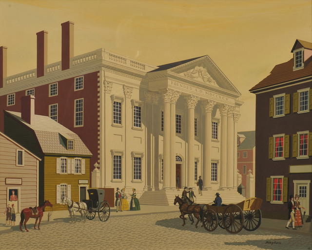 James R. Bingham, 'First Bank in Philadelphia', 20th Century, The Illustrated Gallery