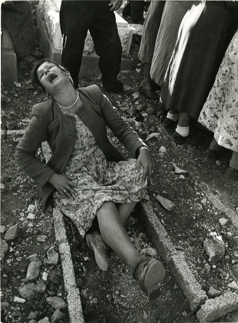 , 'Israel, Woman weeping at a gravesite,' printed 1953, Be-hold