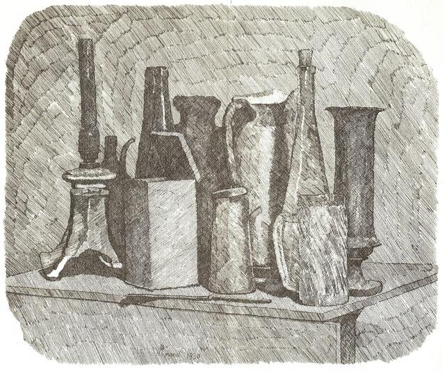 , 'Grande natura morta con la lampada a petrolio,' 1930, Galleria d'Arte Maggiore G.A.M.