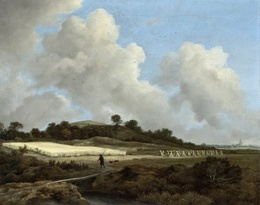 Jacob van Ruisdael, 'View of Grainfields with a Distant Town', 1670, Los Angeles County Museum of Art