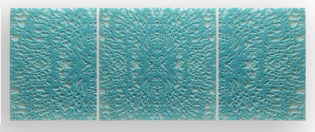 Lawrence Morrell, 'Georgian Coral VII (turquoise triptych)', Heather Gaudio Fine Art