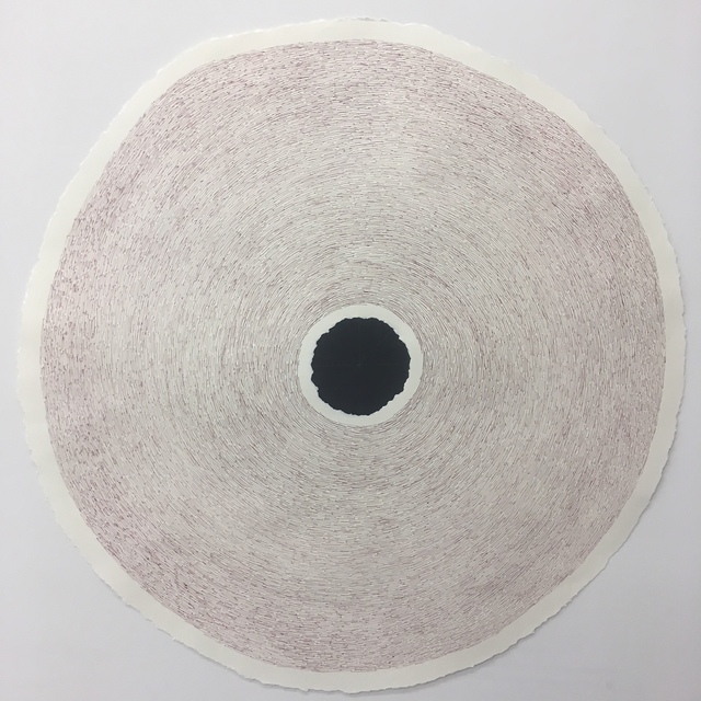 Jose-Ricardo Presman, '10-1', 2018, Drawing, Collage or other Work on Paper, 29 inch diameter, paper and ink on paper, Amos Eno Gallery
