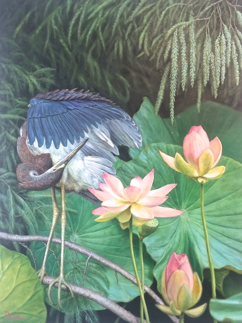 , 'Preening The Beauty,' 2017, Renata Fine Arts