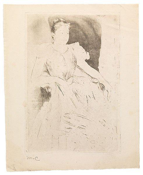 Mary Cassatt, 'Katharine Kelso Cassatt', ca. 1889, Adelson Galleries