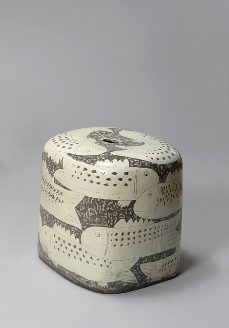 , 'Buncheong Stool with Fish Pattern,' 2018, Soluna Fine Art